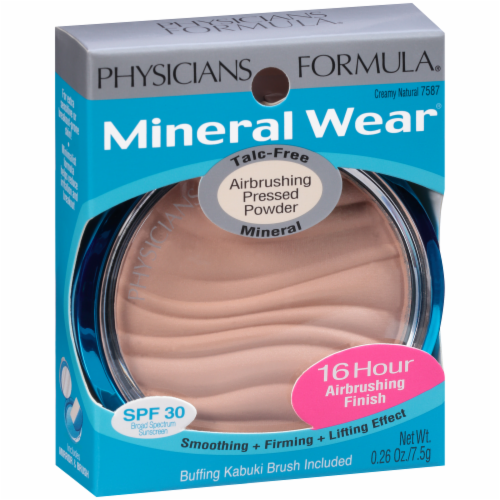 Physicians Formula Mineral Wear Airbrushing 7587 Creamy Natural Pressed Powder Perspective: left
