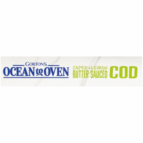 Gorton's Ocean To Oven Caper & Lemon Butter Sauced Cod Fish Fillets Perspective: left