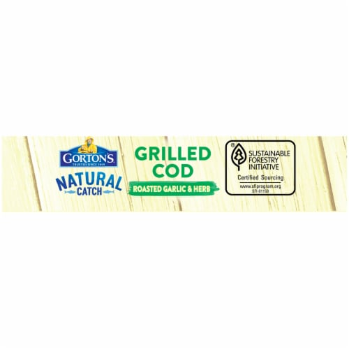 Gorton's Natural Catch Roasted Garlic & Herb Grilled Cod Fillets Perspective: left