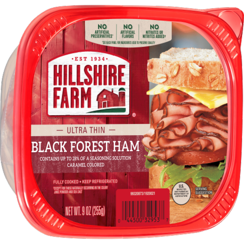 Hillshire Farm Ultra Thin Sliced Black Forest Ham Lunchmeat Perspective: left