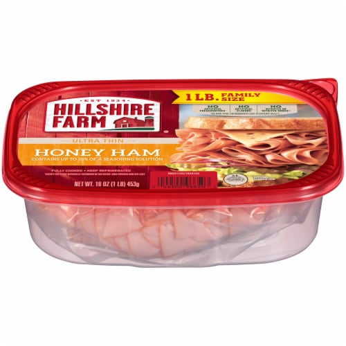 Hillshire Farm Ultra Thin Sliced Honey Ham Lunch Meat Perspective: left