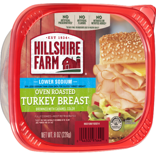 Hillshire Farm Ultra Thin Sliced Lower Sodium Oven Roasted Turkey Breast Perspective: left