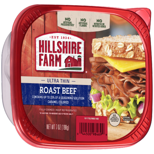 Hillshire Farm Ultra Thin Sliced Lunchmeat Roast Beef Perspective: left