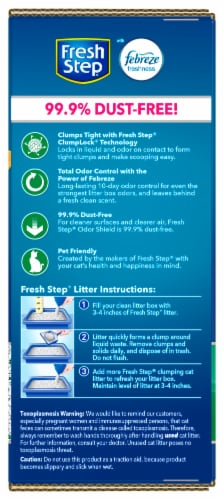 Fresh Step Odor Shield with Febreze Freshness Clumping Cat Litter Perspective: left