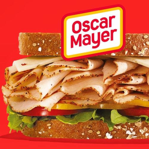 Oscar Mayer Deli Fresh Cracked Black Pepper Turkey Breast Family Size Perspective: left