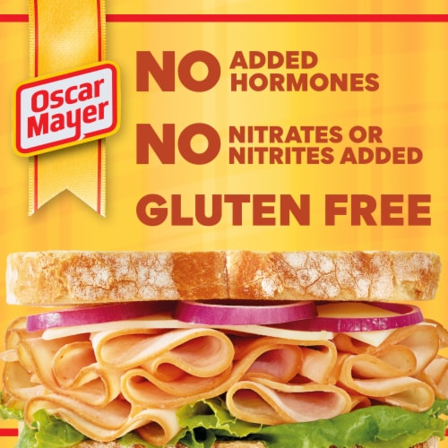 Oscar Mayer Deli Fresh Honey Smoked Turkey Breast Lunch Meat Perspective: left