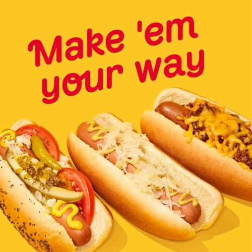 Oscar Mayer Classic Beef Uncured Franks Hot Dogs Perspective: left