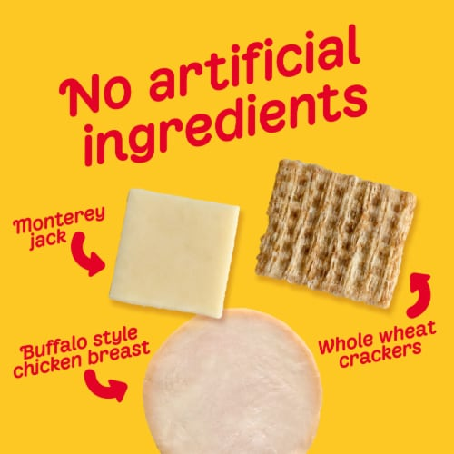 Oscar Mayer Natural Buffalo Style Chicken Monterey Jack Cheese & Crackers Snack Pack Perspective: left