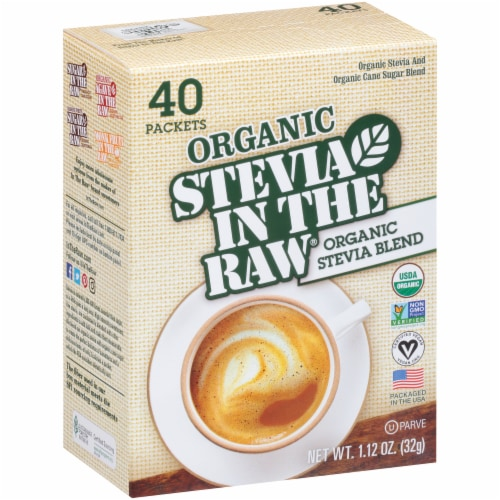 Stevia In The Raw Organic Stevia Blend Packets Perspective: left