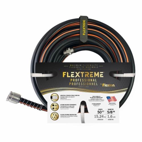 Flexon Flextreme Pro 5/8 x 50ft Performance Rubber Garden Hose Perspective: left
