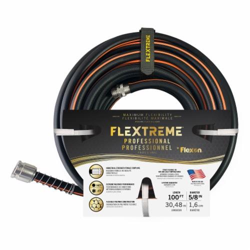 Flexon Flextreme Pro 5/8 x 100ft Performance Rubber Garden Hose Perspective: left