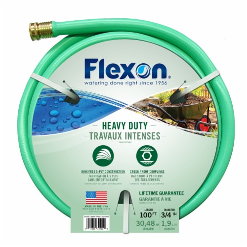 Flexon 3/4 x 100ft Heavy Duty Garden Hose Perspective: left