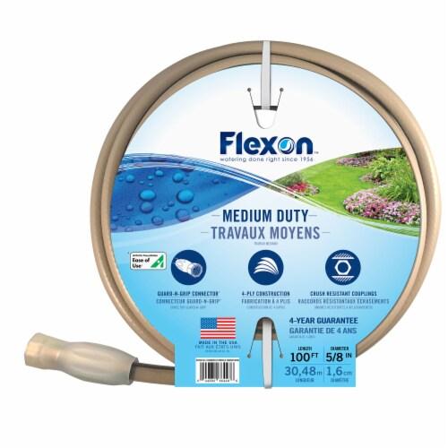Flexon 5/8 x 100ft Medium Duty Garden Hose Perspective: left