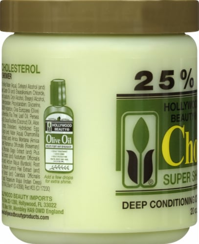 Hollywood Beauty Olive Cholesterol Deep Conditioning Creme for Damaged Hair Perspective: left