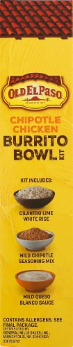 Old El Paso Chipotle Chicken Burrito Bowl Kit Perspective: left