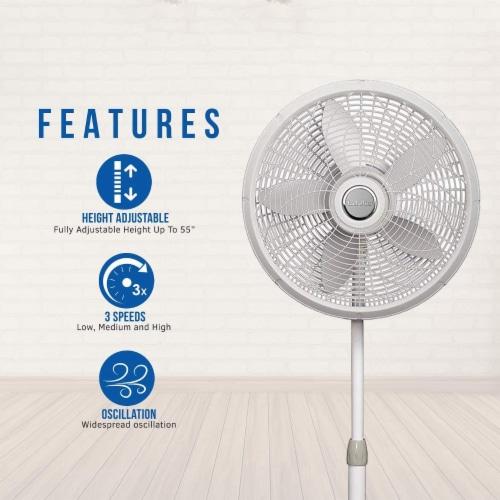 Lasko Adjustable Elegance and Performance Pedestal Fan - White Perspective: left