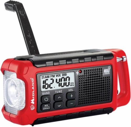 E-Ready Emergency Compact Crank Radio Perspective: left