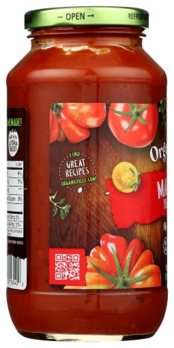 Organicville Organic Marinara Pasta Sauce Perspective: left
