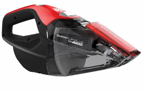 Dirt Devil Quick Flip Plus Handheld Vacuum Cleaner - Red/Black Perspective: left