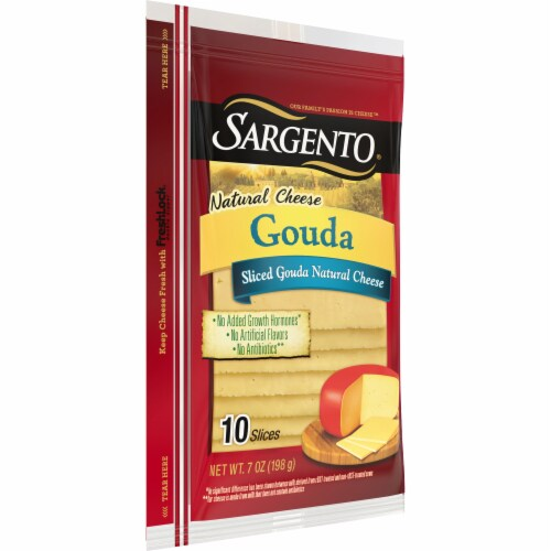Sargento Natural Gouda Cheese Slices Perspective: left
