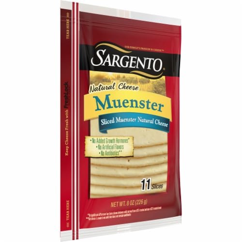 Sargento Natural Muenster Cheese Slices Perspective: left