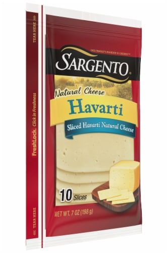 Sargento Natural Havarti Cheese Slices 10 Count Perspective: left