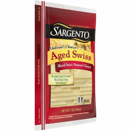 Sargento Natural Aged Swiss Cheese Slices 11 Count Perspective: left