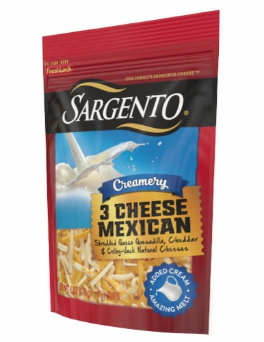 Sargento Creamery 3 Cheese Mexican Blend Shredded Cheese Perspective: left