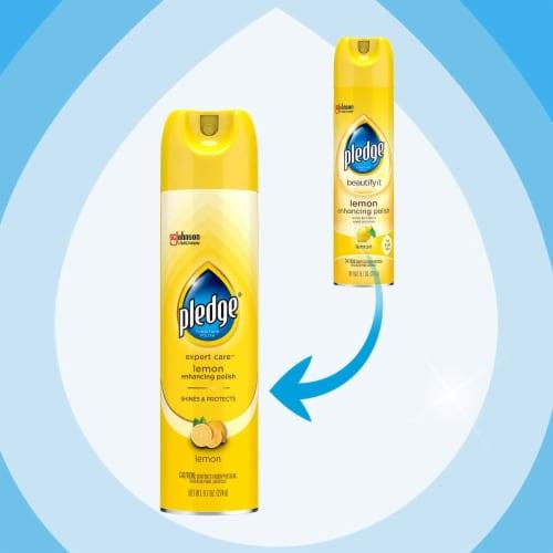 Pledge Beautify It Lemon Enhancing Polish Spray Perspective: left