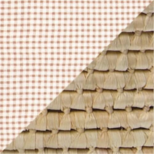 NATURAL Hooded Moses Basket - Ecru/Beige Gingham Bedding Perspective: left