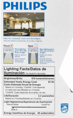Philips 65-Watt BR30 Incandescent Light Bulb Perspective: left