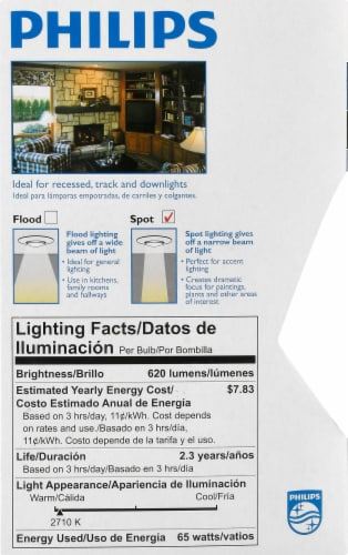Philips 65-Watt BR30 Incandescent Spot Light Bulb Perspective: left