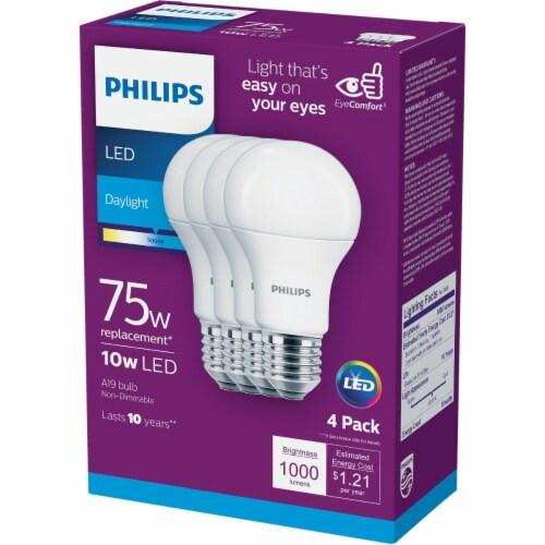 Philips 10-Watt (75-Watt) A19 LED Light Bulbs Perspective: left