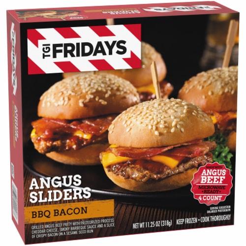 TGI Fridays BBQ Bacon Angus Sliders Perspective: left