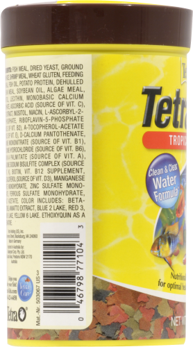 Tetra Min Tropical Flakes Fish Food Perspective: left