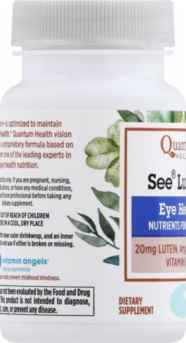 Quantum Health See Lutein Eye Health Softgels Perspective: left