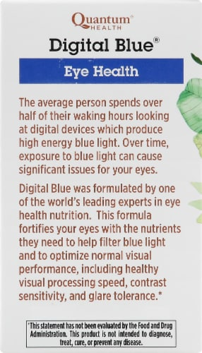 Quantum Health Digital Blue Eye Health Softgels Perspective: left