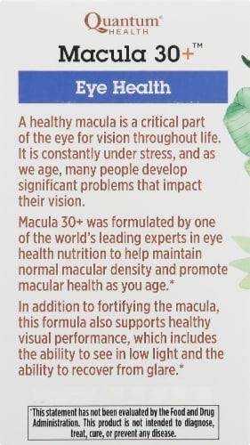 Quantum Health Macula 30+ Eye Health Softgels Perspective: left