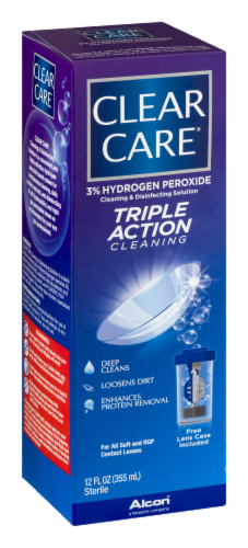 Alcon Clear Care Triple Action Cleaning & Disinfecting Solution Perspective: left
