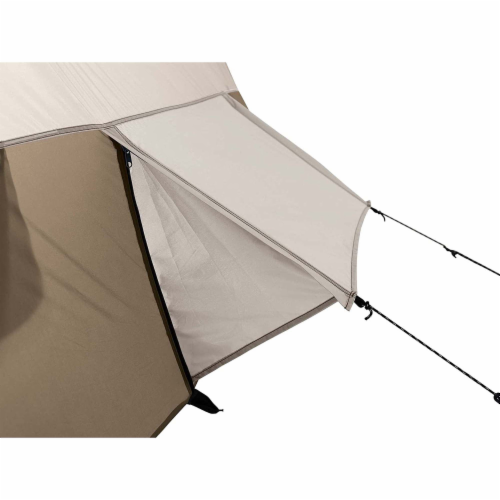 Wenzel Klondike Large Outdoor 8 Person Camping Tent with Screen Room, Brown Perspective: left