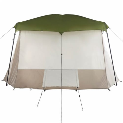Wenzel Klondike Large Outdoor 8 Person Camping Tent with Screen Room, Green Perspective: left