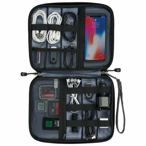 iLive IACK350G Electronic Accessory Organizer & Travel Case Perspective: left
