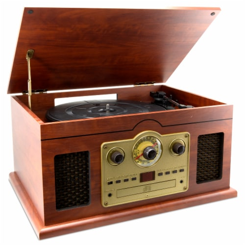 iLive 6-In-1 Turntable Stereo System Perspective: left