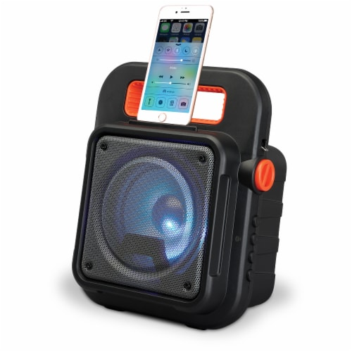 iLive ISB309B Tailgate Bluetooth Speaker - Black/Orange Perspective: left