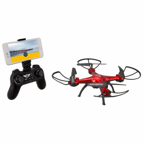 Sky Rider Quadcopter Drone - Red Perspective: left