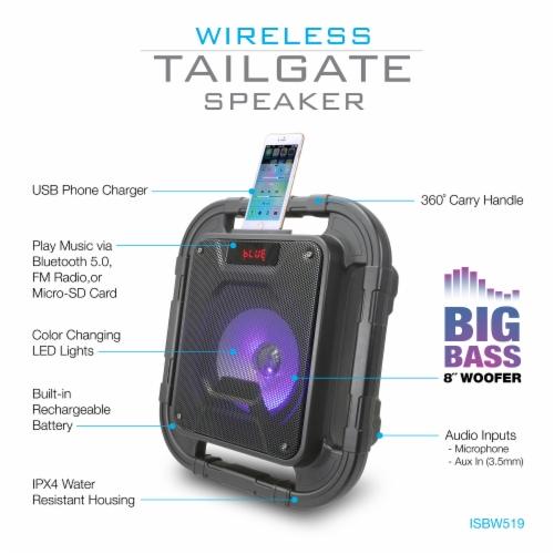 iLive Bluetooth Tailgate Speaker - Black Perspective: left