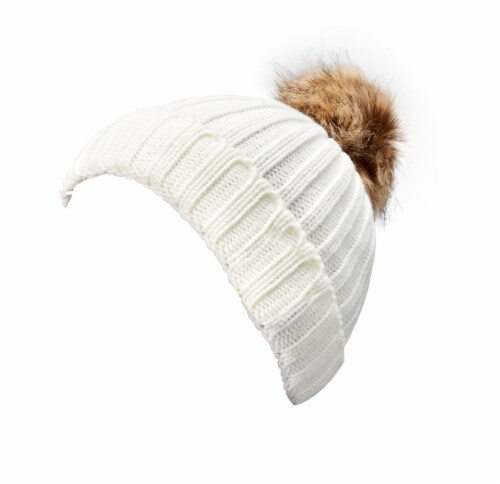 iLive Wireless Music Knit Beanie with Pom Perspective: left