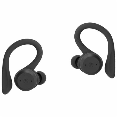 iLive Truly Wireless Sport Earbuds with Case Perspective: left