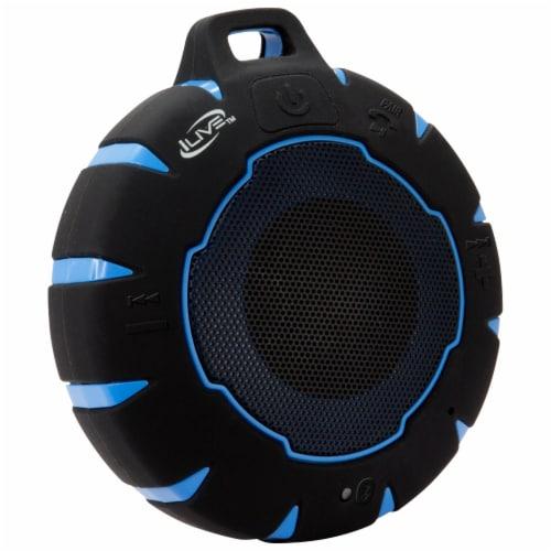 iLive Waterproof Wireless Speaker - Black/Blue Perspective: left