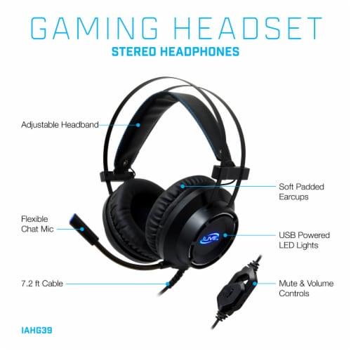 iLive Gaming Headphones - Black/Blue Perspective: left